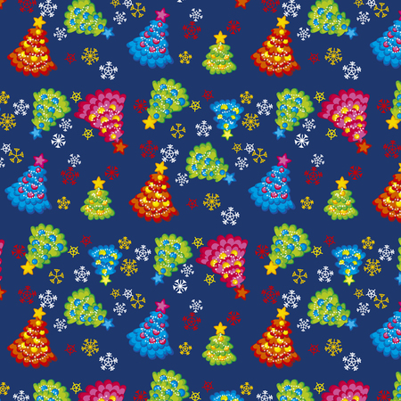 christmas element: seamless chaos x-mas tree pattern. vector background