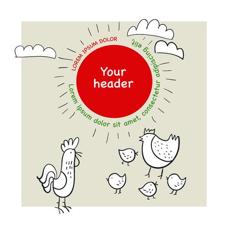 chicken family: vector illustration of chicken family Illustration