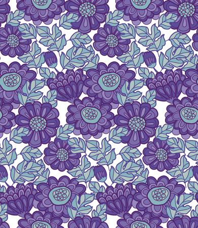 autumn flowers: chrysanthemum flower seamless design. decorative aster illustration. fall floral blossom. autumn flowers rustic peasant style fabric