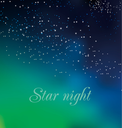 expansive: abstract astronomy background. illustration of Christmas night card template