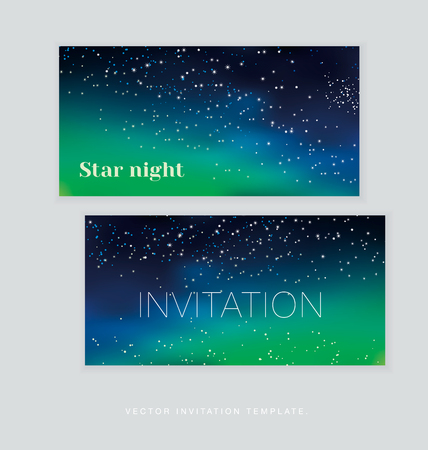 polaris: abstract astronomy background. illustration of Christmas night card template