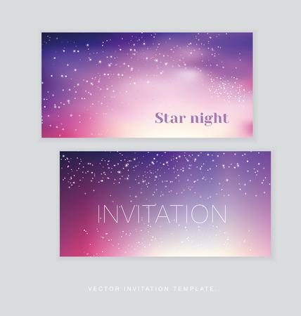 broadside: night stars space background. illustration of light festive sky