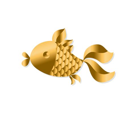gold fish Art Nouveau style illustration