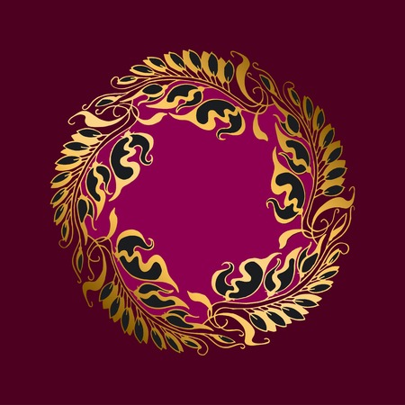 secession: purpur  flower Art Nouveau style illustration