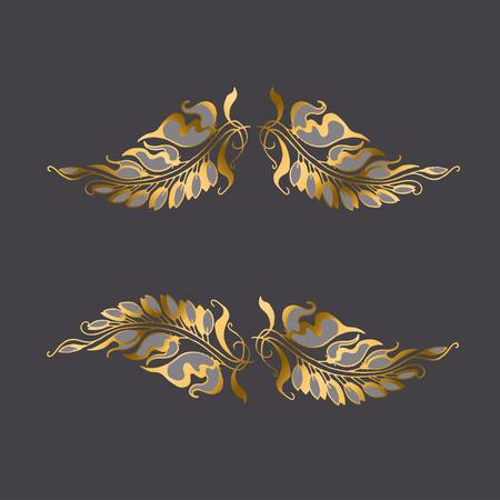Art Nouveau style decor elemen Illustration