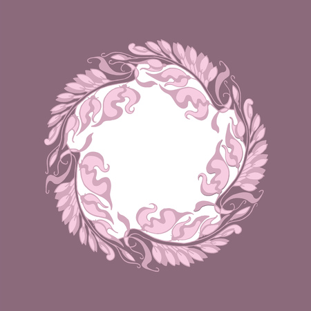 nuvo: light rose color Art Nouveau style illustration Illustration
