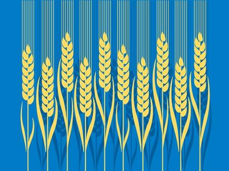 nuvo: wheat illustration in Art Nouveau style Illustration