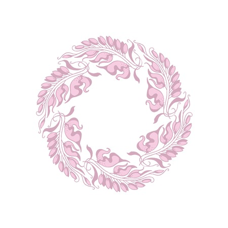 light rose color Art Nouveau style illustration Illustration