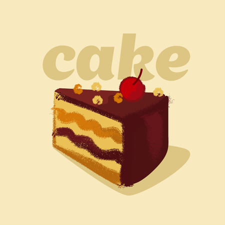 kiddy: illustration of kiddy style sweet tort