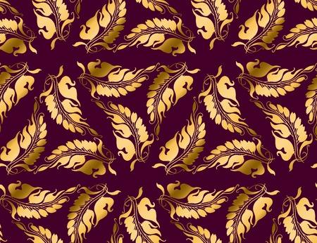 nuvo: Art Nouveau style  purple pattern illustration Illustration
