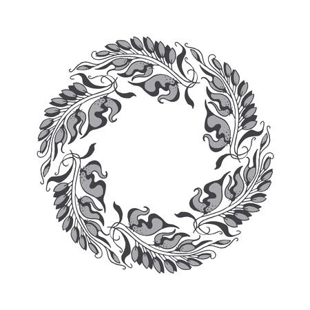 nuvo: elegant gray Art Nouveau style illustration
