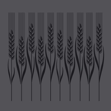nuvo: wheat illustration in concept elegant style Illustration