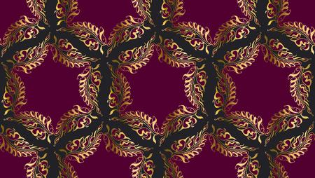 secession: Art Nouveau style round pattern illustration