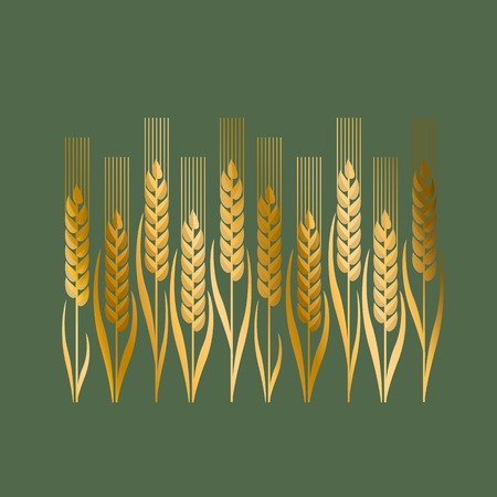 secession: wheat illustration in Art Nouveau style Illustration