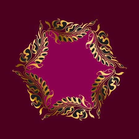 secession: purpur wreath Art Nouveau style illustration Illustration