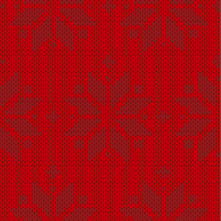 red and black sweater winter seamless pattern