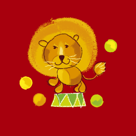 kiddy: illustration of kiddy circus red lion