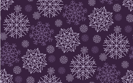 knightly: Classic Christmas snowflakes seamless pattern. White and ink color background snow fabric sample. geometric pattern swatch vector illustration. repeatable geometry modern motif