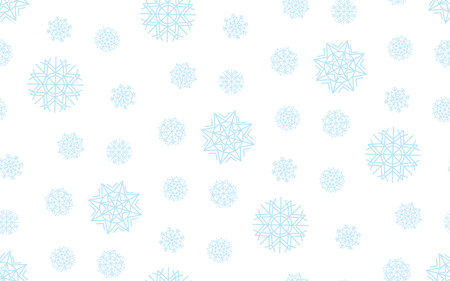christmas motif: Classic illustration, template for Christmas greeting. Vector illustration seamless pattern. Geometry abstract snow motif. Illustration