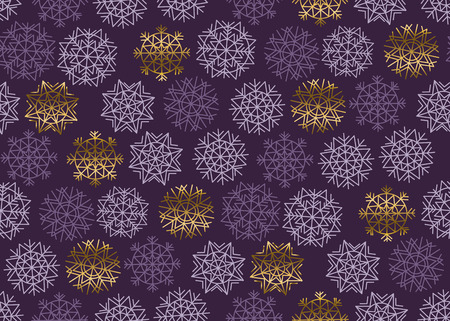 expansive: Christmas snowflakes seamless pattern. New Year festive geometric pattern swatch vector illustration. repeatable geometry modern motif Illustration