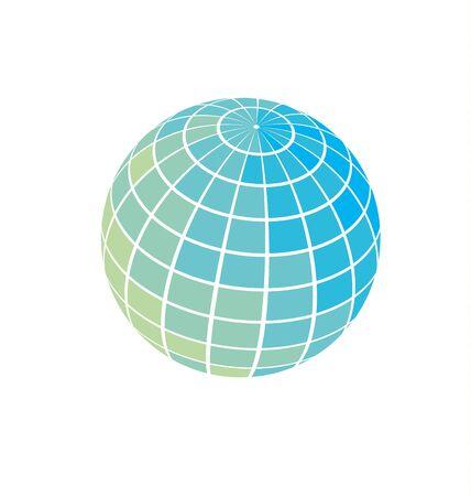globe icon vector illustration. world earth simple symbol