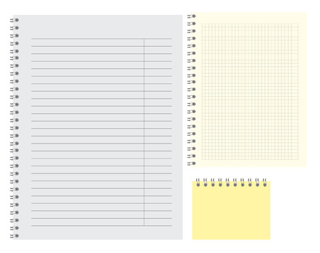 lined simple blank note pat template vector illustration of