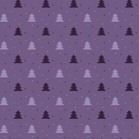 nuance: Naive Christmas vector seamless pattern with trees ans snow. Xmas simple texture. Christmas pattern. Christmas trees. Wrapping paper.