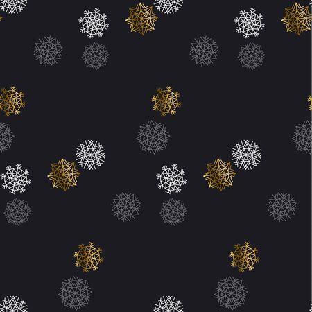 christmas motif: Flake of snow seamless pattern. Christmas backdrop. Winter pattern. Season vector illustration. elegant fancy light Snowflake motif. Snow geometry background. Xmas background.