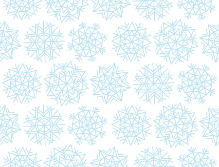 nuance: Christmas snowflakes background. Xmas seamless with decorative snowflakes. Vecotr illustration, template for Christmas geeting