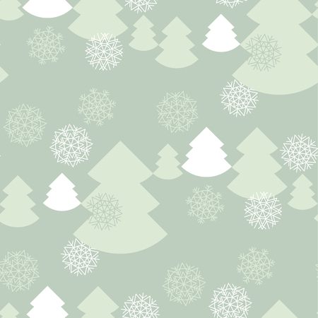 pale color: elegant pale color christmas background. xmas faminin style seamless pattern. vector illustration of winter celebration with snowflakes and fir tree