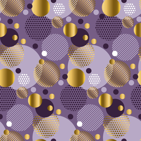 elegant backgrounds: Xmas seamless dots modern pattern. purple background geometry circle color seamless fabric sample. geometric pattern swatch vector illustration Illustration