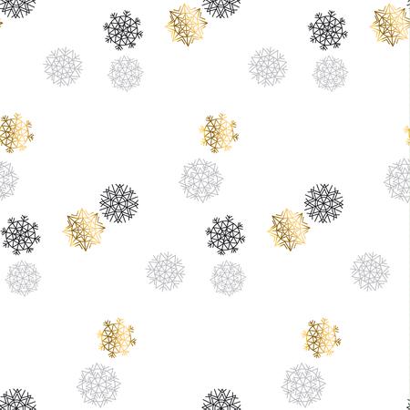 christmas motif: elegant fancy light Snowflake motif. Flake of snow seamless pattern. Snow geometry background. Xmas background. Christmas backdrop. Winter pattern. Season vector illustration. Illustration