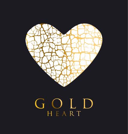 decorative antique textured vector illustration. valentine card concept. broken heart symbol. romantic sadness concept poster.