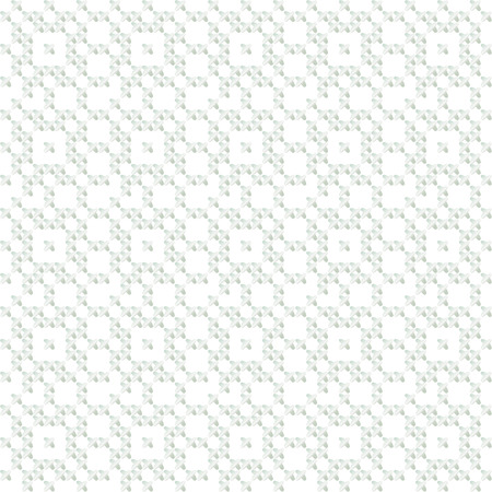 peasant: cross stitch vector ornament. traditional embroidery seamless white pattern. winter light repeatable motif for fabric and wrapping paper. peasant rustic style linen background Illustration