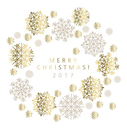 pale color: snowflakes luxury pastel color header or card. abstract decorative Christmas vector illustration. gold and beige pale color winter festive background.