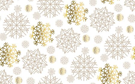 pale color: gold snowflakes luxury pastel color seamless pattern.  abstract decorative Christmas vector illustration. gold and beige pale color winter festive background. Illustration