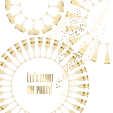 Scintillante dell'oro concetto di vino illustrazione vettoriale della carta Archivio Fotografico - 67774543