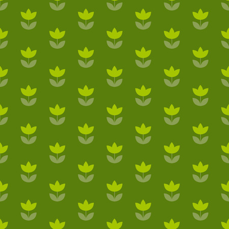 teeny: grass green color Holland tulip repeatable motif. simple laconic vector illustration design. seamless background for wrapping paper or fabric