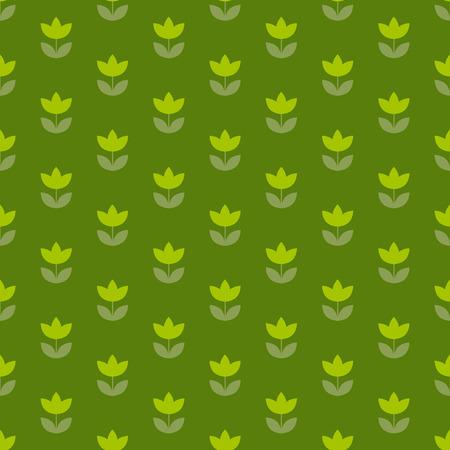 Motif répétitif pour tulipe Hollandais de couleur vert herbe. conception d'illustration vectorielle laconique simple. fond transparent pour envelopper du papier ou du tissu