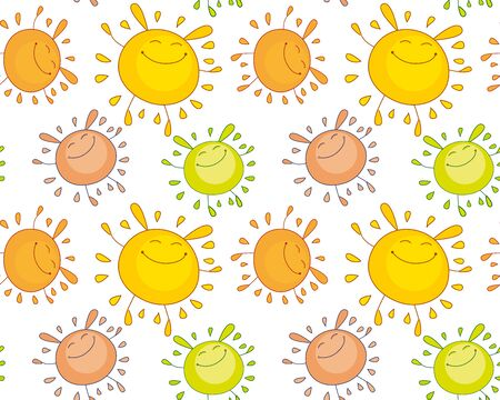 tender color funny mascot. bubble shape sun rabbit or bunny. simple vector illustration design for kid projects. seamless background for wrapping paper or child-style fabric Illustration