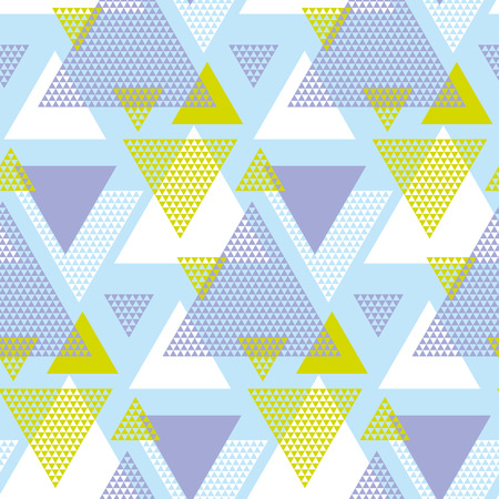 voilet: Green and violet elegant creative repeatable motif with triangles for wrapping paper or fabric. Modern seamless pattern vector illustration in geometry style. Illustration