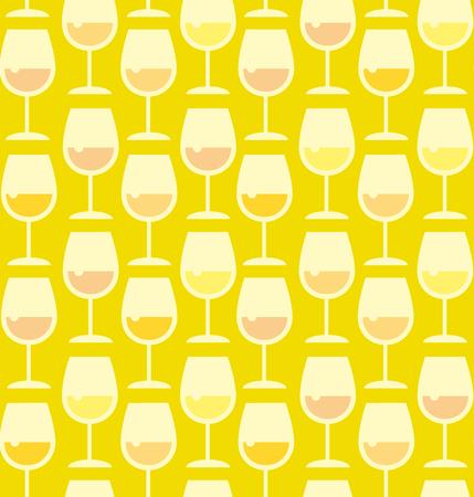 whie wine: Restaurant wine bar seamless pattern with wine glass. Seamless wineglass with whie wine background vector illustration
