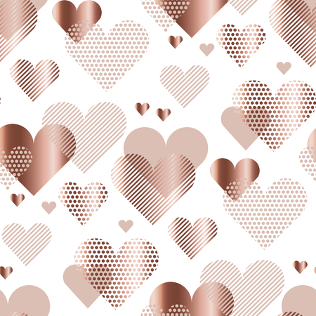 love heart concept vector illustration for backdrop. simple stylized abstract seamless pattern for background, wrapping paper, fabric