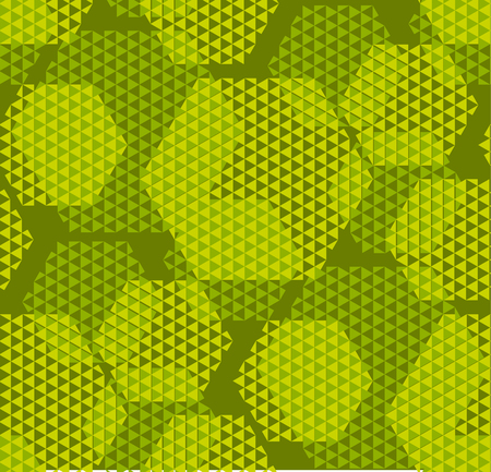 concept modern geometry hexagone pattern with green color. geometric seamless pattern in digital style for wrapping paper, fabric, background Illustration