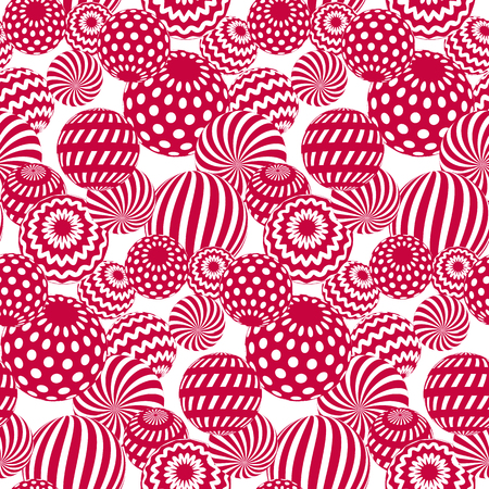 traditionary: circle red beads on white background. creative modern geometry style seamless pattern for wrapping paper, music poster, flyers, backdrop. contemporary repeatable geometric motif inspired by Ukraine traditional stile