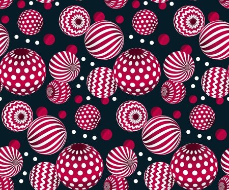 traditionary: circle red beads on black background. creative modern geometry style seamless pattern for wrapping paper, music poster, flyers, backdrop. contemporary repeatable geometric motif inspired by Ukraine traditional stile