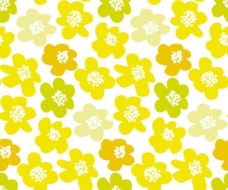 Sunny lemon color summer floral vector illustration in retro 60s style Illustration