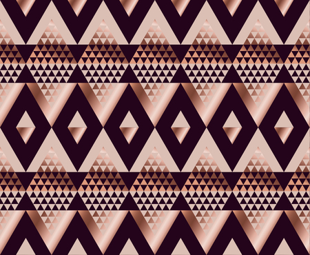 tribal traditional repeatable motif in art deco luxury style. seamless ornament vector illustration.