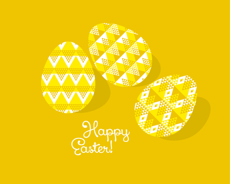tribal geometry concept easter egg decoration. vector illustration of eggs pattern for greetings, decor, poster, header. geometric style color spring decor