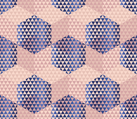 meshy: pale color geometry hexagon seamless fabric sample. geometric pattern swatch vector illustration for wrapping paper, background Illustration